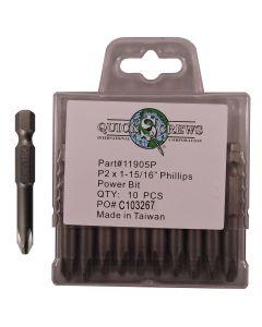 "P2 X 1-15/16"" Phillips Drive Power Bit  Sold In Each"