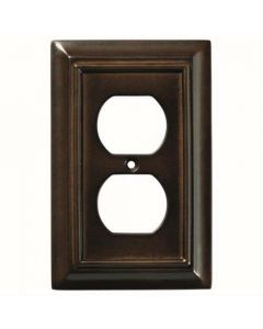 "Espresso 8-3/32"" [206.00MM] 2 Plug Outlet Wall Plate by Brainerd sold in Each - 126340"