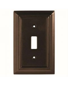 "Espresso 8"" [203.20MM] 1 Toggle Wall Plate by Brainerd sold in Each - 126342"