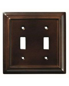 "Espresso 8"" [203.20MM] 2 Toggle Wall Plate by Brainerd sold in Each - 126343"