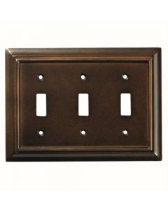 "Espresso 8"" [203.20MM] 3 Toggle Wall Plate by Brainerd sold in Each - 126344"