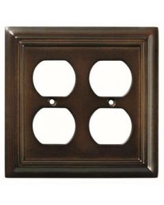 "Espresso 6-13/16"" [173.04MM] 4 Plug Outlet Wall Plate by Brainerd sold in Each - 126380"