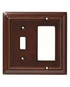 "Espresso 6-19/32"" [166.70MM] 1 Toggle Wall Plate by Brainerd sold in Each - 126382"
