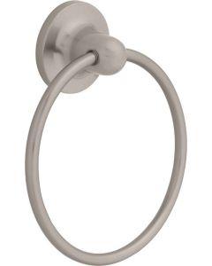 "Satin Nickel 6-3/32"" [155.00MM] Towel Ring by Liberty - 127775"