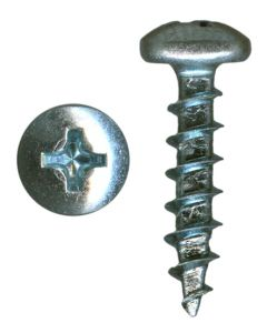 "# 10-9 X 3/4"" Phillips Pan Head Coarse Thread Zinc Plated Screws Sold In Box 9000"