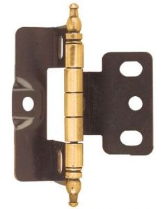 Antique Brass Full Inset Hinge by Amerock sold as Each - 3175TM-AE