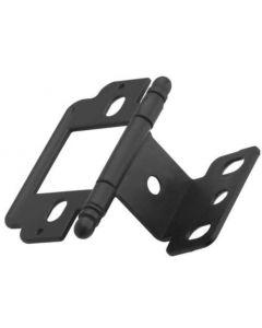 Flat Black Full Inset Hinge by Amerock sold as Each - PK3180TBFB