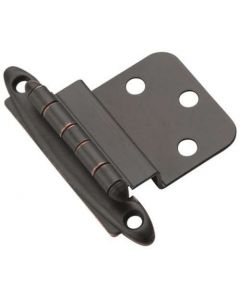 Oil Rubbed Bronze Non Self-Closing Hinge by Amerock sold as Pair - 3417-ORB