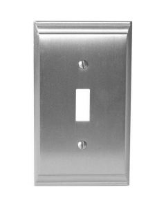 "Satin Nickel 7-9/32"" [185.00MM] 1 Toggle Wall Plate by Amerock sold in Each - 36500-G10"