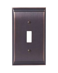 "Oil Rubbed Bronze 7-9/32"" [185.00MM] 1 Toggle Wall Plate by Amerock sold in Each - 36500-ORB"