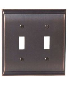 "Oil Rubbed Bronze 8-9/32"" [210.06MM] 2 Toggle Wall Plate by Amerock sold in Each - 36501-ORB"
