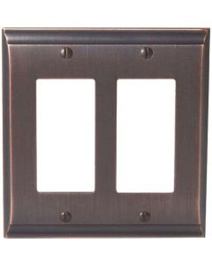 "Oil Rubbed Bronze 8-9/32"" [210.06MM] 2 Rocker Wall Plate by Amerock sold in Each - 36505-ORB"