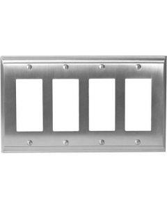 """Satin Nickel 11-5/8"""" [294.90MM] 4 Rocker Wall Plate by Amerock sold in Each - 36507-G10"""