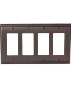 """Oil Rubbed Bronze 11-5/8"""" [294.90MM] 4 Rocker Wall Plate by Amerock sold in Each - 36507-ORB"""