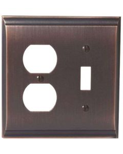 "Oil Rubbed Bronze 8-9/32"" [210.06MM] 1 Toggle 2 Plug Wall Plate by Amerock sold in Each - 36510-ORB"