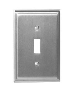 """Satin Nickel 7-9/32"""" [185.00MM] 1 Toggle Wall Plate by Amerock sold in Each - 36514-G10"""