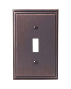 "Oil Rubbed Bronze 7-9/32"" [185.00MM] 1 Toggle Wall Plate by Amerock sold in Each - 36514-ORB"