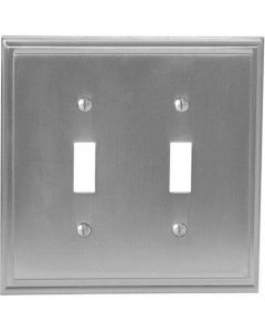 "Satin Nickel 8-9/32"" [210.06MM] 2 Toggle Wall Plate by Amerock sold in Each - 36515-G10"
