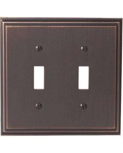 "Oil Rubbed Bronze 8-9/32"" [210.06MM] 2 Toggle Wall Plate by Amerock sold in Each - 36515-ORB"