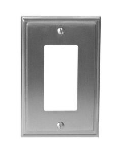 "Satin Nickel 7-9/32"" [185.00MM] 1 Rocker Wall Plate by Amerock sold in Each - 36518-G10"