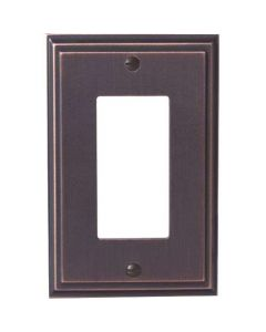 """Oil Rubbed Bronze 7-9/32"""" [185.00MM] 1 Rocker Wall Plate by Amerock sold in Each - 36518-ORB"""