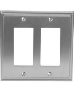 "Satin Nickel 8-9/32"" [210.06MM] 2 Rocker Wall Plate by Amerock sold in Each - 36519-G10"