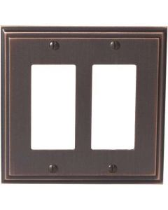 "Oil Rubbed Bronze 8-9/32"" [210.06MM] 2 Rocker Wall Plate by Amerock sold in Each - 36519-ORB"