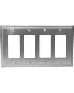 """Satin Nickel 11-5/8"""" [294.90MM] 4 Rocker Wall Plate by Amerock sold in Each - 36521-G10"""