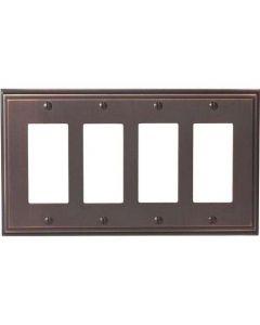 """Oil Rubbed Bronze 11-5/8"""" [294.90MM] 4 Rocker Wall Plate by Amerock sold in Each - 36521-ORB"""