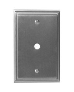 "Satin Nickel 7-9/32"" [185.00MM] 1 cable Wall Plate by Amerock sold in Each - 36526-G10"