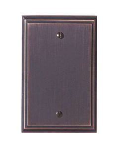 "Oil Rubbed Bronze 7-9/32"" [185.00MM] Blank Wall Plate by Amerock sold in Each - 36527-ORB"