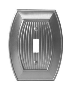 "Satin Nickel 7-9/32"" [185.00MM] 1 Toggle Wall Plate by Amerock sold in Each - 36528-G10"