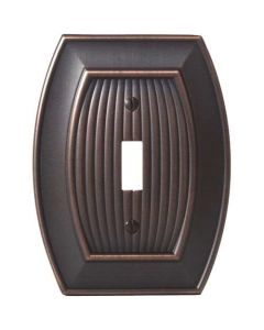 "Oil Rubbed Bronze 7-9/32"" [185.00MM] 1 Toggle Wall Plate by Amerock sold in Each - 36528-ORB"