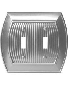 "Satin Nickel 8-9/32"" [210.06MM] 2 Toggle Wall Plate by Amerock sold in Each - 36529-G10"