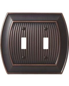 "Oil Rubbed Bronze 8-9/32"" [210.06MM] 2 Toggle Wall Plate by Amerock sold in Each - 36529-ORB"