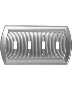 "Satin Nickel 11-5/8"" [294.90MM] 4 Toggle Wall Plate by Amerock sold in Each - 36531-G10"
