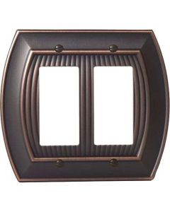 "Oil Rubbed Bronze 8-9/32"" [210.06MM] 2 Rocker Wall Plate by Amerock sold in Each - 36533-ORB"