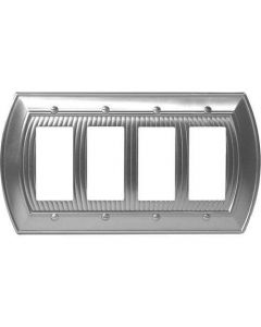 """Satin Nickel 11-5/8"""" [294.90MM] 4 Rocker Wall Plate by Amerock sold in Each - 36535-G10"""