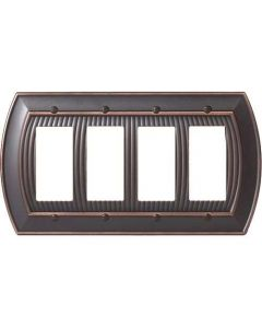"Oil Rubbed Bronze 11-5/8"" [294.90MM] 4 Rocker Wall Plate by Amerock sold in Each - 36535-ORB"