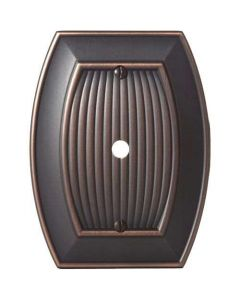 "Oil Rubbed Bronze 7-9/32"" [185.00MM] 1 cable Wall Plate by Amerock sold in Each - 36540-ORB"