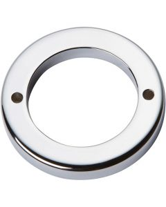 "Polished Chrome 1"" [25.40MM] Round Base by Atlas sold in Each - 389-CH"