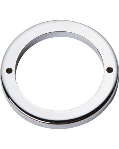 "Polished Chrome 2-1/2"" [63.50MM] Round Base by Atlas sold in Each - 390-CH"
