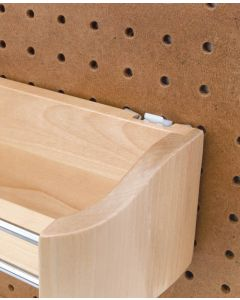 """11"""" Wood Door Storage Tray with Screw In Clips Natural"""