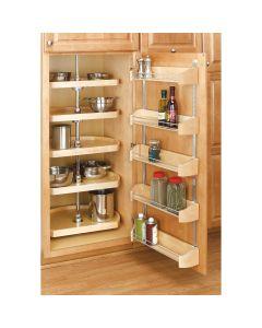 "20"" Pantry D-Shape Set -5 Shelves (no post) Natural"