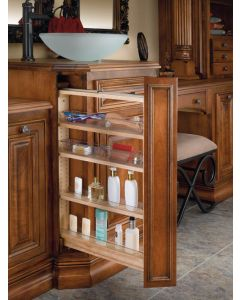 "6"" Vanity Filler Pull-Out with Adjustable Shelves Natural"