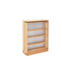 "9"" Filler Organizer with Stainless Steel Panel/Shelves and Soft-Close Natural, SKU: 433-BFBBSC-9C"