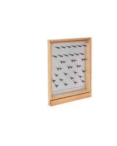 "3"" Fller Organizer with Stainless Steel Panel and Soft-Close Natural, SKU: 434-BFBBSC-3SS"