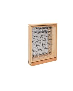 "6"" Fller Organizer with Stainless Steel Panel and Soft-Close Natural, SKU: 434-BFBBSC-6SS"