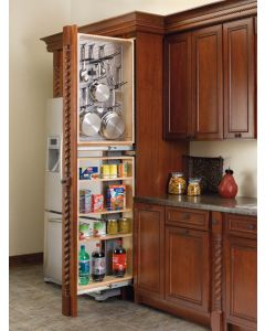 "6"" Tall Filler Pull-Out with Stainless Steel Panel,  39.5"" Natural"