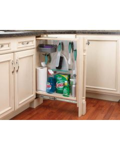 """3"""" Base Filler Pull-Out With Stainless Steel Panel Natural"""